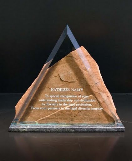 Freestanding Acrylic & Glass Awards - Peak of Crystal
