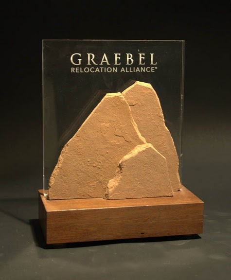 Freestanding Acrylic & Glass Awards - Large: Stone &