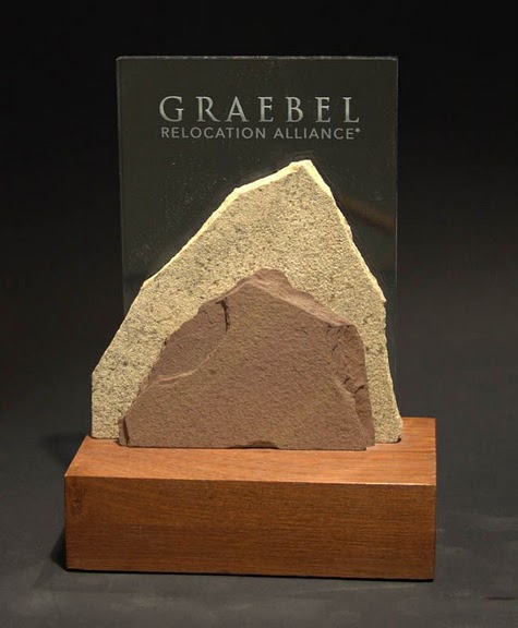 Freestanding Acrylic & Glass Awards - Medium: Stone & Clear