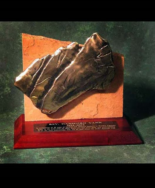 Freestanding Bronze Casting Awards - Flatirons on Flagstone