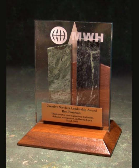 Freestanding Metal & Stone Awards - Cityscape