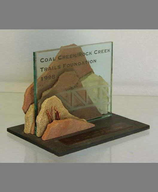 Freestanding Metal & Stone Awards - Mountain Path