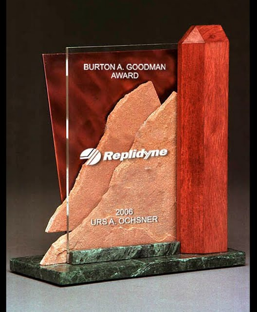 Freestanding Metal & Stone Awards - Radiant Tribute