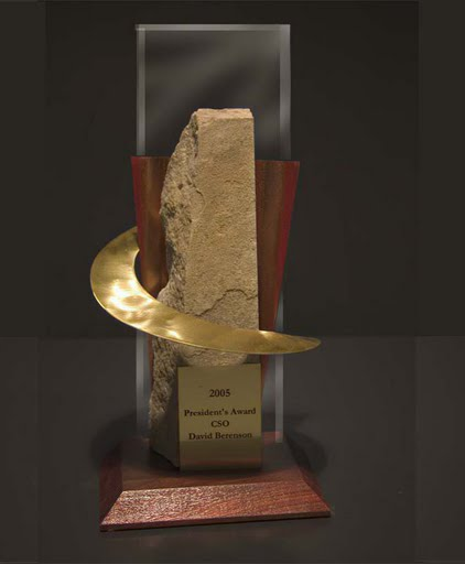 Freestanding Metal & Stone Awards - Tall Swirl