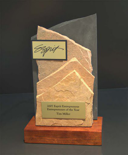 Freestanding Metal & Stone Awards - View of Mountain II