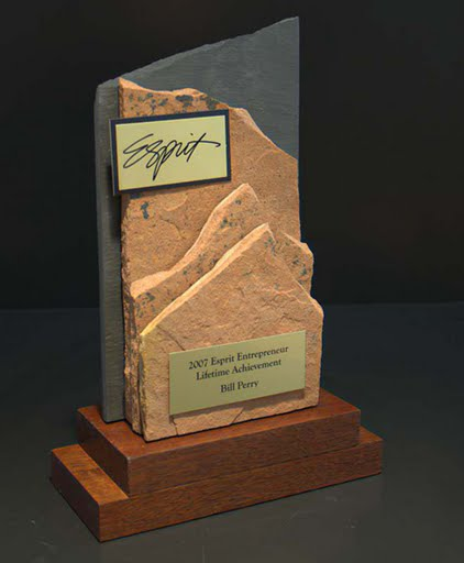 Freestanding Metal & Stone Awards - View of Mountain III