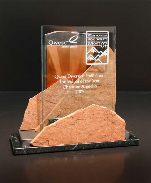 Freestanding Metal & Stone Awards - Western Sky