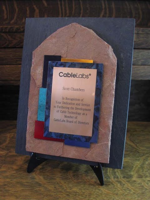 Small Plaques - Rich Toned Metal and Slate