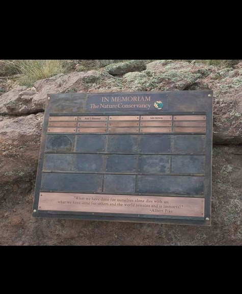 Exterior Wall Recognition - Nature Conservancy Plaque