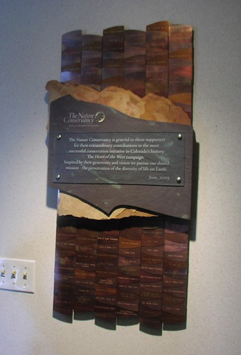 Interior Wall Recognition - Autumn Color Landscape Donor Plaque