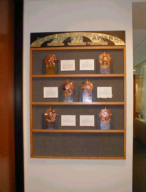 Interior Wall Recognition - Special Corporate Award Display