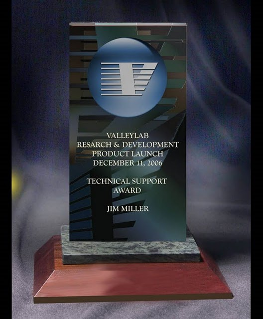 Small Desktop Acrylic & Stone Awards - Spectacular Graphic Piece