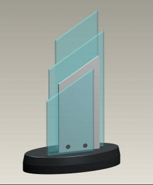 Small Desktop Acrylic & Stone Awards - Upward Performance Perk