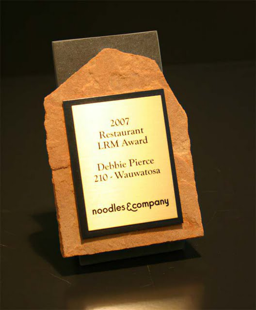 Small Desktop Metal & Stone Awards - Jr. Flagstone Thank You