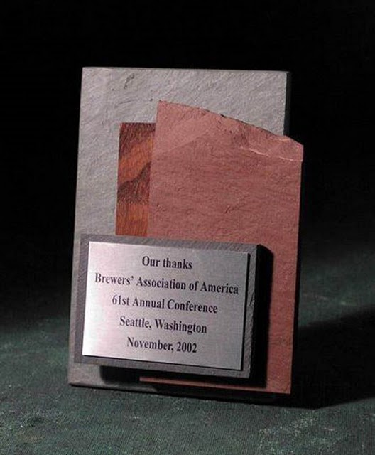 Small Desktop Metal & Stone Awards - Multi-Slate Small Item