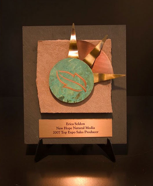 Recycled Content Awards - Image Element Plaque with Solar Flair (RRRM  Certified Level)