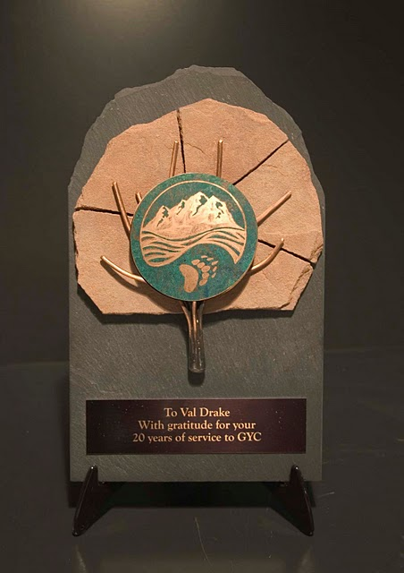 Recycled Content Awards - Recycled Wire Tree Plaque with Emblem (RRRM  Silver)