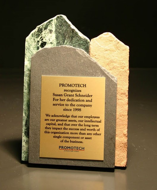 Recycled Content Awards - Three-Tone Eco-Stone Plaque (RRRM  Platinum)
